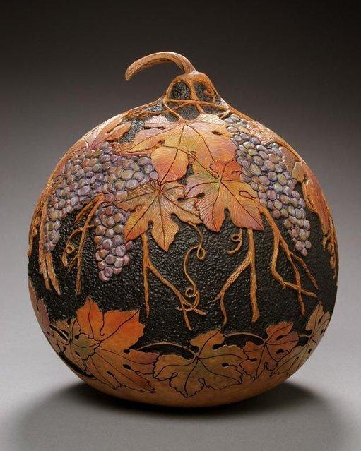 Pumpkin Carved Sculptures By Marilyn Sunderland