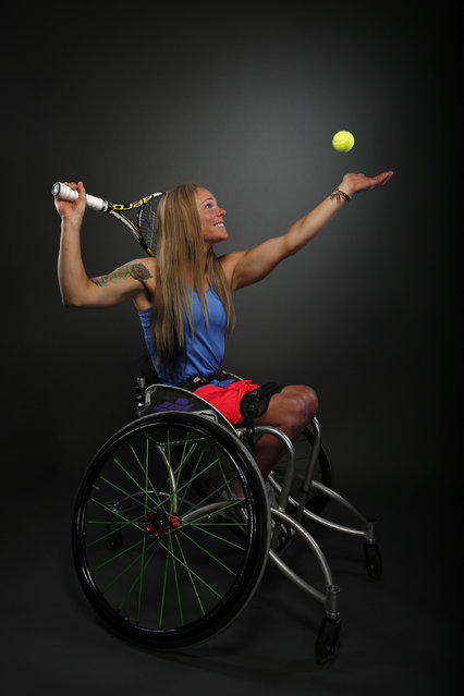 Wheelchair tennis player Kaitlyn Verfuerth poses for a portrait at the U.S. Olympic Committee Media Summit in Beverly Hills, Los Angeles, California March 7, 2016. (Photo by Lucy Nicholson/Reuters)