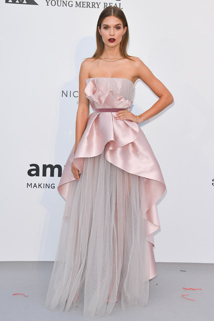 Josephine Skriver attends the amfAR Cannes Gala 2019 at Hotel du Cap-Eden-Roc on May 23, 2019 in Cap d'Antibes, France. (Photo by George Pimentel/WireImage)