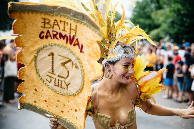 "Bristol celebrates ""wonderful diversity"" at St Paul's carnival on Saturday, July 6, 2019. Thousands filled the streets for the city's 51st procession highlighting the contribution of the Windrush generation. (Photo by Alex Turner/The Guardian)"