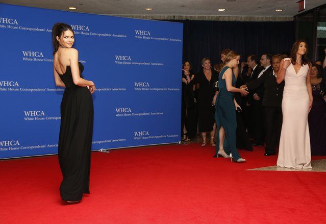 Model Kendall Jenner arrives on the red carpet for the annual White House Correspondents Association Dinner in Washington, U.S., April 30, 2016. (Photo by Jonathan Ernst/Reuters)