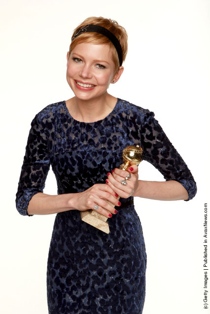 Actress Michelle Williams, winner of the Best Performance by an Actress in a Motion Picture