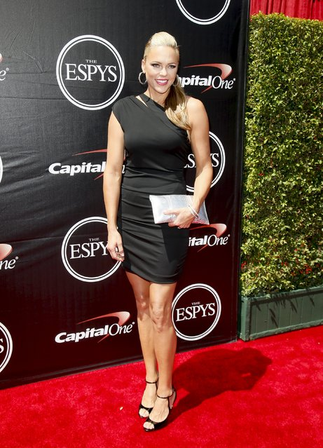 Softball pitcher Jennie Finch arrives for the 2015 ESPY Awards in Los Angeles, California July 15, 2015. (Photo by Danny Moloshok/Reuters)
