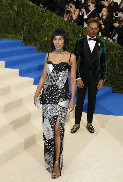 """Actress Kerry Washington attends """"Rei Kawakubo/Comme des Garcons: Art Of The In-Between"""" Costume Institute Gala – Arrivals at Metropolitan Museum of Art on May 1, 2017 in New York City. (Photo by Lucas Jackson/Reuters)"""