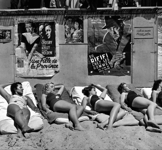 Starlets at Cannes Film Festival, Cannes, France, 1955. (Photo by Roger-Viollet/Rex Features/Shutterstock)