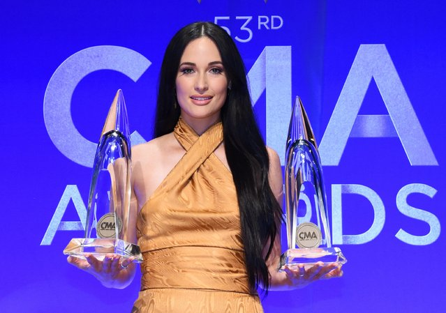 Kacey Musgraves poses in the press room of the 53rd annual CMA Awards at the Bridgestone Arena on November 13, 2019 in Nashville, Tennessee. (Photo by Charles Pulliam/Reuters)
