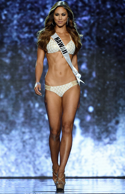 Miss Hawaii USA Chelsea Hardin competes in the swimsuit competition during the 2016 Miss USA pageant preliminary competition at T-Mobile Arena on June 1, 2016 in Las Vegas, Nevada. (Photo by Ethan Miller/Getty Images)
