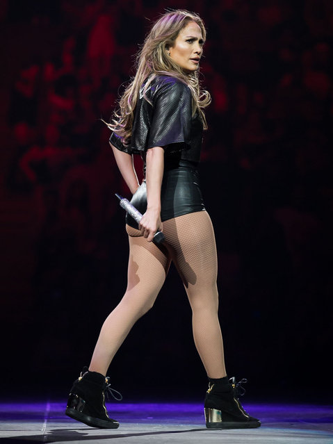Jennifer Lopez performs at Power 106's POWERHOUSE in Anaheim, CA on May 17, 2014. (Photo by Emmerson/Splash News)