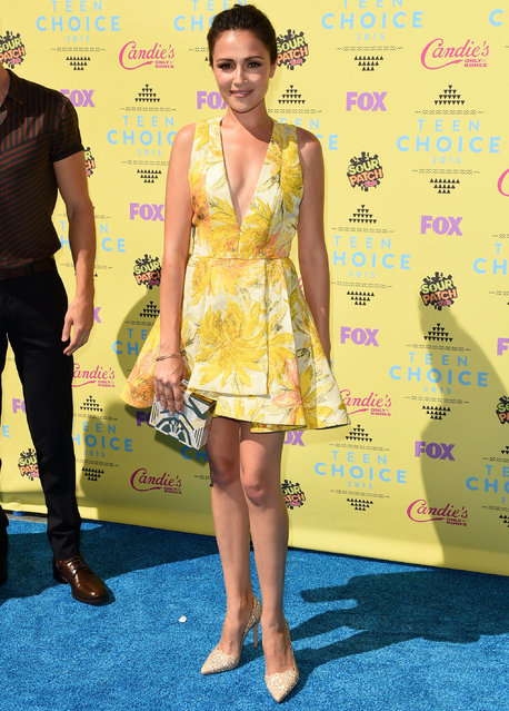 Actress Italia Ricci attends the Teen Choice Awards 2015 at the USC Galen Center on August 16, 2015 in Los Angeles, California. (Photo by Jason Merritt/Getty Images)