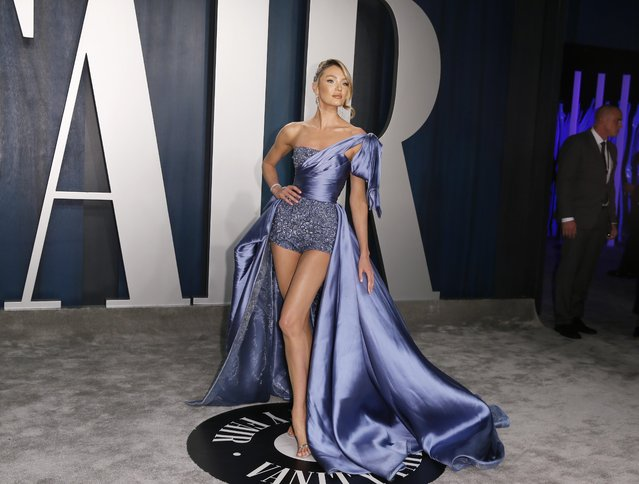 Candice Swanepoel attends the Vanity Fair Oscar party in Beverly Hills during the 92nd Academy Awards, in Los Angeles, California, U.S., February 9, 2020. (Photo by Danny Moloshok/Reuters)