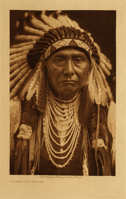 Chief Joseph of the Nez Perce in 1903. (Photo by Edward S. Curtis)