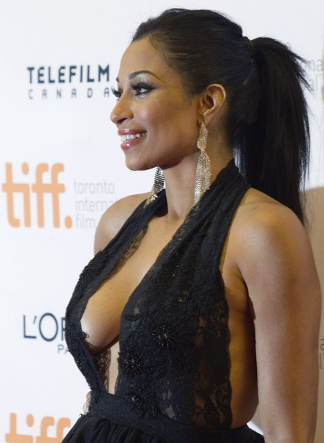 """Actress Karlie Redd arrives for the premiere of the film """"Top Five"""" at the Toronto International Film Festival (TIFF) in Toronto September 6, 2014. (Photo by Fred Thornhill/Reuters)"""
