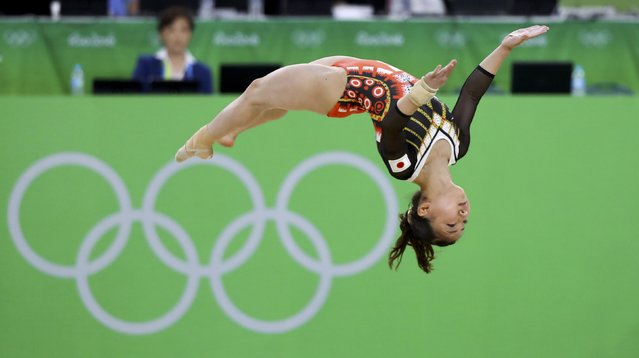 2016 Rio Olympics, Artistic Gymnastics, Final, Women's Individual All-Around Final, Rio Olympic Arena, Rio de Janeiro, Brazil on August 11, 2016. Asuka Teramoto (JPN) of Japan competes on the floor exercise. (Photo by Mike Blake/Reuters)