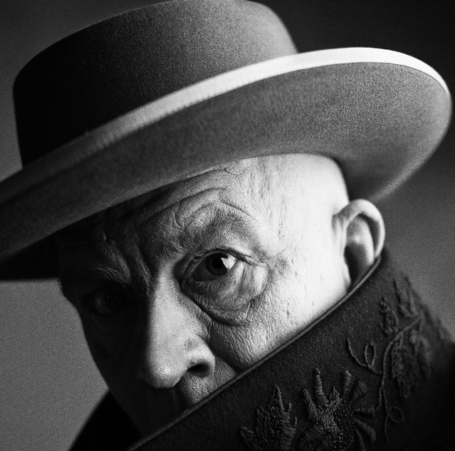 "John Malkovich is seen as Pablo Picasso in a re-creation of the 1957 portrait by Irving Penn. Sandro is a self-taught photographer who mainly does commercial work. He admits that he owns over 800 photo books, and is ""a little fanatical"" when it comes to reviewing other photographers' work. (Photo by Sandro Miller/Catherine Edelman Gallery)"