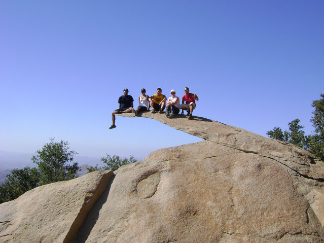 """Mt. Woodson Hikers: Hunter. Marleen. Jeff. Amy. Noel