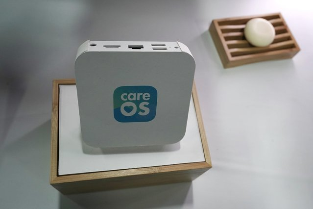 CareOS, the first smart health and beauty hub for the bathroom, is displayed during a press event for CES 2018 at the Mandalay Bay Convention Center on January 7, 2018 in Las Vegas, Nevada. (Photo by Alex Wong/Getty Images)