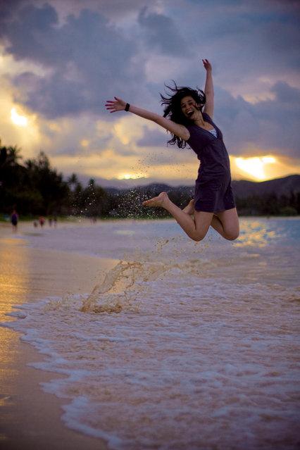 """Jumpology"". ""Leilani"". Hawaii, USA. (Photo by Sarah Lee)"