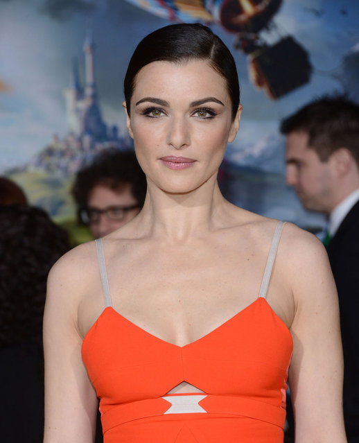 """Actress Rachel Weisz arrives at the Los Angeles premiere of """"Oz The Great and Powerful"""" at the El Capitan Theatre on February 13, 2013 in Hollywood, California. (Photo by Gregg DeGuire/WireImage)"""