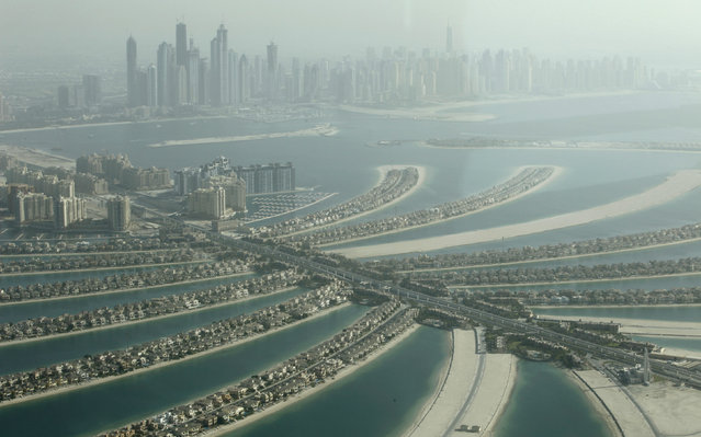 An aerial view of the Palm Jumeirah in Dubai, October 25, 2010. (Photo by Ahmed Jadallah/Reuters)