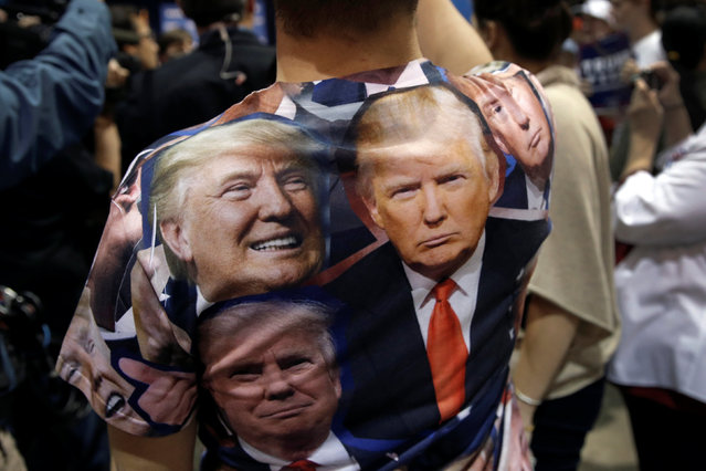A supporter of Republican presidential nominee Donald Trump attends a campaign rally in Reno, Nevada, U.S., October 5, 2016. (Photo by Mike Segar/Reuters)