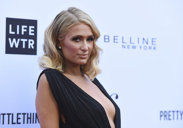 Paris Hilton arrives at the Daily Front Row's Fashion Los Angeles Awards at the Beverly Hills Hotel on Sunday, April 8, 2018, in Beverly Hills, Calif. (Photo by Jordan Strauss/Invision/AP Photo)