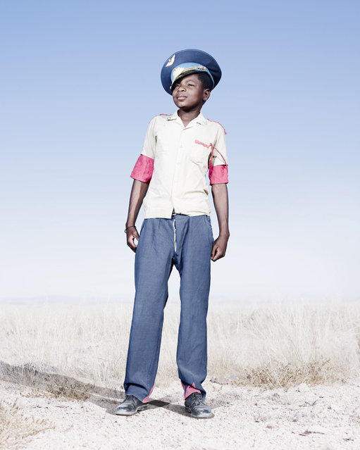 Herero cadet with blue hat, 2012. (Photo by Jim Naughten, courtesy of Klompching Gallery, New York)