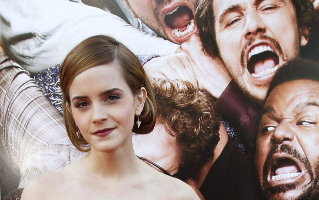 "Cast member Emma Watson poses at the premiere of ""This Is the End"" at the Regency Village theatre in Los Angeles, California June 3, 2013. The movie opens in the U.S. on June 12. (Photo by Mario Anzuoni/Reuters)"