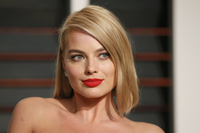 Actress Margot Robbie arrives at the 2015 Vanity Fair Oscar Party in Beverly Hills, California February 23, 2015. (Photo by Danny Moloshok/Reuters)