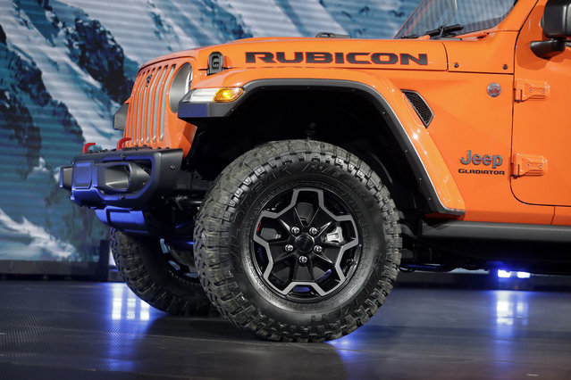 A 2020 Jeep Gladiator Rubicon is displayed during the Los Angeles Auto Show on Wednesday, November 28, 2018, in Los Angeles. (Photo by Chris Carlson/AP Photo)