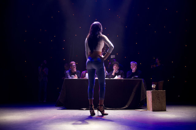Arab Israeli contestant Tallinn Abu Hana poses for the judges during auditions for the first Miss Trans Israel beauty pageant in Tel Aviv, Israel, Thursday, March 3, 2016. The winner will represent Israel at a Miss Trans Star International pageant to be held in Spain in August. Tel Aviv has emerged as one of the world's most gay-friendly travel destinations, standing in sharp contrast to most of the rest of the Middle East, where gays can face persecution. (Photo by Ariel Schalit/AP Photo)