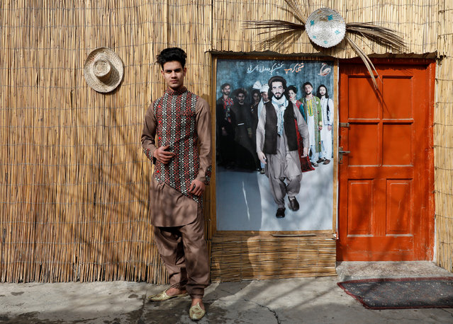 "Afghan model Sultan Qasim Sayeedi, 18, poses for a picture in Kabul, Afghanistan, January 14, 2019. Sayeedi scours Facebook, YouTube and Instagram to learn about fashion and modelling and draws inspiration from his favourite models, including Saudi Arabia's Omar Borkan, and Canadian popstar Justin Bieber. ""We're afraid that if the Taliban come then we will not be able to hold our shows"", he said. Despite that wariness, Sultan says it's time the fighting ended. ""If American troops will go peace will come, we want peace"", he said. (Photo by Mohammad Ismail/Reuters)"