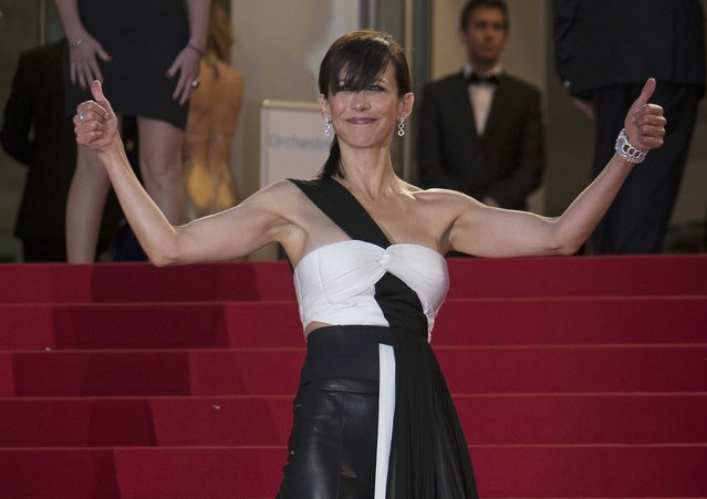 "Jury member actress Sophie Marceau poses on the red carpet as she arrives for the screening of the film ""Maryland"" (Disorder) in competition for the category ""Un Certain Regard"" at the 68th Cannes Film Festival in Cannes, southern France, May 16, 2015. (Photo by Yves Herman/Reuters)"