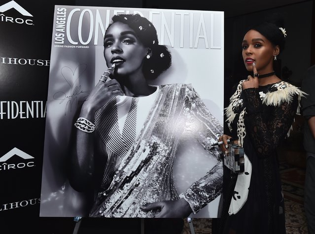 Singer/actress Janelle Monae attends Los Angeles Confidential Magazine and CIROC Ultra-Premium Vodka celebrate the Spring Oscars issue with Janelle Monae at Palihouse West Hollywood on February 22, 2017 in West Hollywood, California. (Photo by Alberto E. Rodriguez/Getty Images)