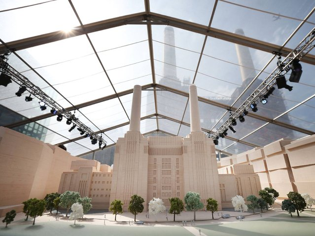An architectural model shows Phase Three of the development of Battersea Power Station on April 10, 2014 in London, England. The Power Station Development Company has unveiled the plans designed by architects Gehry Partners and Foster + Partners. T(Photo by Peter Macdiarmid/Getty Images)