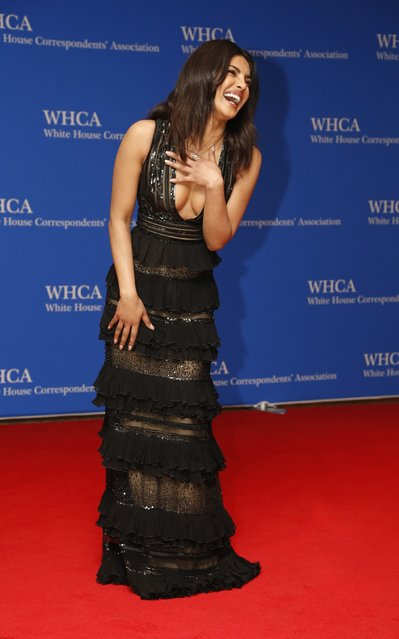 Actress Priyanka Chopra arrives on the red carpet for the annual White House Correspondents Association Dinner in Washington, U.S., April 30, 2016. (Photo by Jonathan Ernst/Reuters)