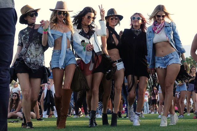 Model Alessandra Ambrosio is seen at Coachella on April 14, 2017 in Indio, CA. (Photo by Hollywood To You/Star Max/GC Images)