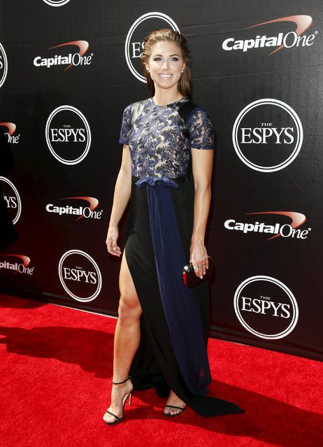 U.S. Women's National Soccer team player Alex Morgan arrives for the 2015 ESPY Awards in Los Angeles, California July 15, 2015. (Photo by Danny Moloshok/Reuters)