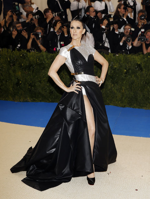 """Celine Dion attends """"Rei Kawakubo/Comme des Garcons: Art Of The In-Between"""" Costume Institute Gala – Arrivals at Metropolitan Museum of Art on May 1, 2017 in New York City. (Photo by Brendan Mcdermid/Reuters)"""