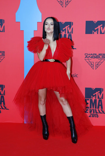 Becky G attends the MTV EMAs 2019 at FIBES Conference and Exhibition Centre on November 03, 2019 in Seville, Spain. (Photo by Europa Press Entertainment/Europa Press via Getty Images)