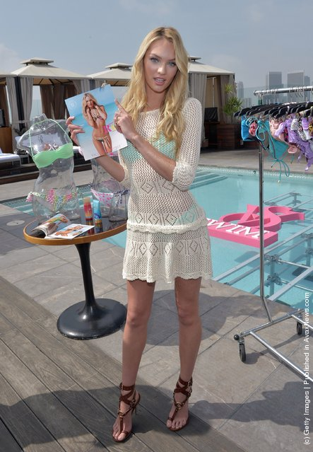 Candice Swanepoel Launch The 2012 VS Swim Collection