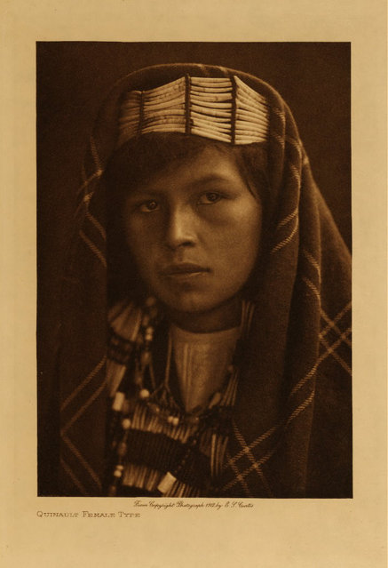 A Quinault woman in 1912. (Photo by Edward S. Curtis)
