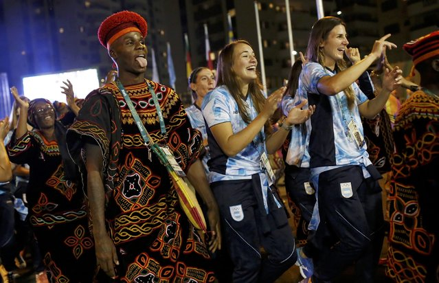 Cameroon's and Argentina's Olympic teams attend their welcoming ceremony inside the Olympic Village in Rio de Janeiro, Brazil on August 1, 2016. (Photo by Edgard Garrido/Reuters)