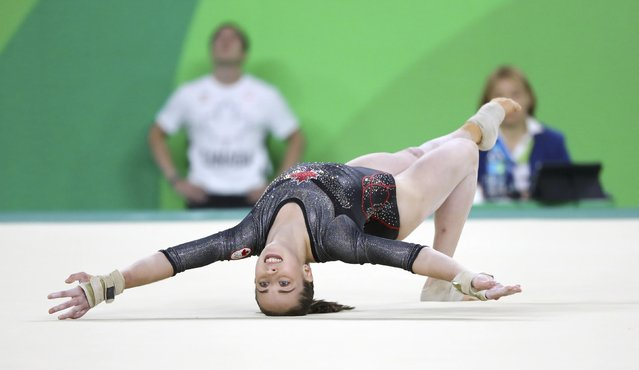 2016 Rio Olympics, Artistic Gymnastics, Final, Women's Individual All-Around Final, Rio Olympic Arena, Rio de Janeiro, Brazil on August 11, 2016. Isabela Onyshko (CAN) of Canada competes on the floor exercise. (Photo by Mike Blake/Reuters)