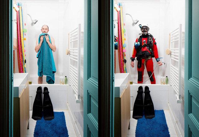 Gael is an underwater diver. (Photo by Bruno Fert/Picturetank)