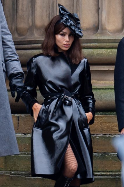 American actress, singer, and model Zoe Kravitz filming scenes on the set of Catwoman on October 12, 2020 in Liverpool, England. (Photo by Splash News and Pictures)