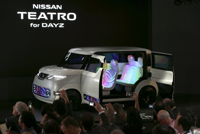 Nissan Teatro for Dayz concept car is seen during a presentation at the 44th Tokyo Motor Show in Tokyo, Japan, October 28, 2015. (Photo by Toru Hanai/Reuters)