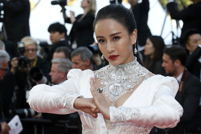 """Chinese actress Miya Muqi arrives for the screening of the film """"Ash Is Purest White"""" in competition at the 71st Cannes Film Festival in Cannes, France on May 11, 2018. (Photo by Regis Duvignau/Reuters)"""