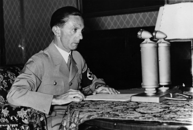 German Nazi politician, Joseph Goebbels (1897 - 1945), 18th April 1939. (Photo by Fox Photos/Getty Images)