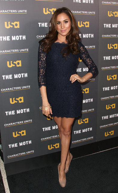 "Actress Meghan Markle attends the USA Network's and The Moth's Storytelling Tour ""A More Perfect Union: Stories of Prejudice and Power"" at the Pacific Design Center on February 15, 2012 in West Hollywood, California. (Photo by Frederick M. Brown/Getty Images)"
