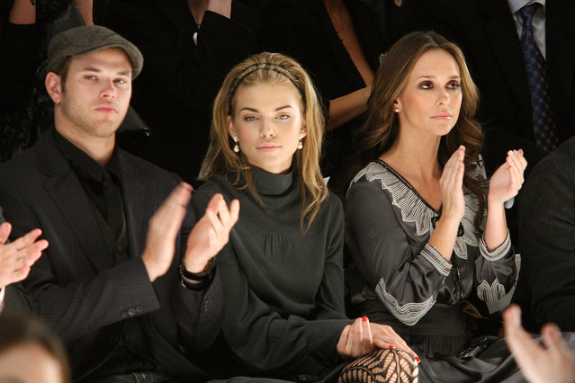 (L to R) Actors Kellan Lutz, AnnaLynn McCordand  and Jennifer Love Hewitt attends the Monarchy Fall 2009 fashion show during Mercedes-Benz Fashion Week in the Promenade at Bryant Park on February 14, 2009 in New York City. (Photo by Bryan Bedder/Getty Images for IMG)